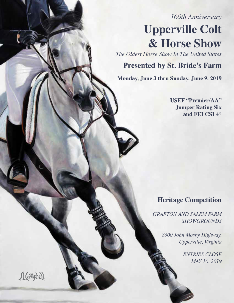 Submit Your Entries for the 2019 Upperville Colt & Horse